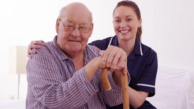 Nurse Holding Elderly Patient's Hand tsc2